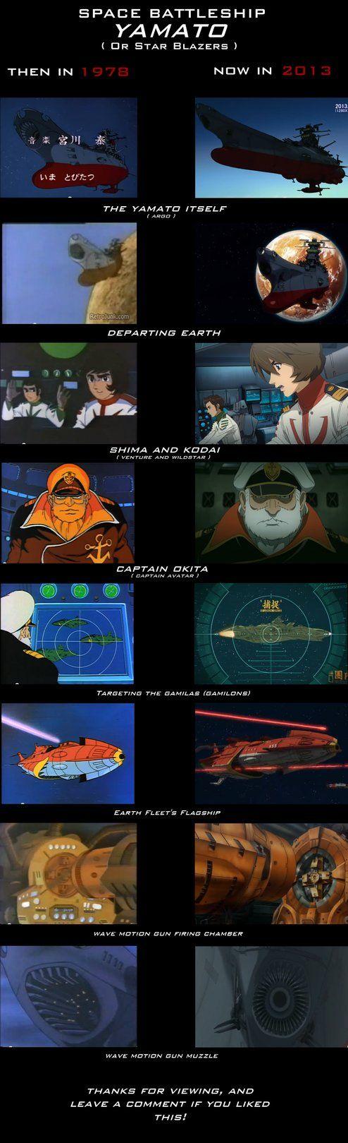 Evolution of Space Battleship Yamato (Star Blazer) by StrikeFire