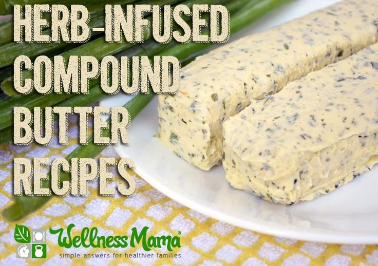 Herb Infused Compound Butter Recipes-Herb infused compound butters combine the fat soluble vitamins in butter with the flavor and health benefits of various herbs for a delicious and simple condiment from WellnessMama.com