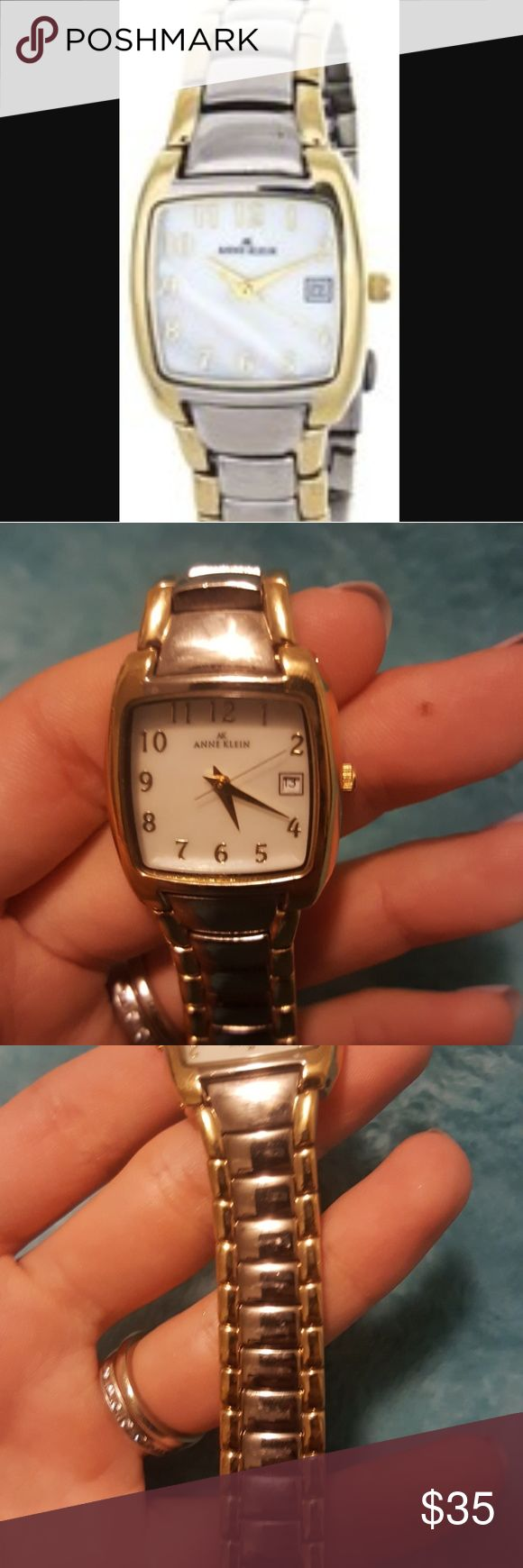 Anne Klein watch Silver and gold  Needs new battery  Good condition  Band a little tarnished Anne Klein Accessories Watches