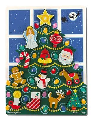 Obrázek z Vánoční strom dřevěné puzzle Melissa & Doug