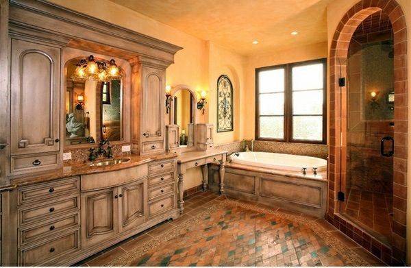 15 Mediterranean Bathroom Designs