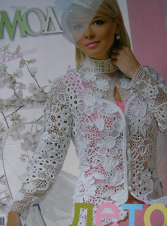 Crochet patterns Fashion Magazine Zhurnal Mod No 546 by sneg78, $9.50