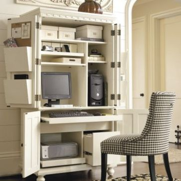 1000 images about desk on pinterest offices elle fowler and armoires - Computer armoires for small spaces property ...