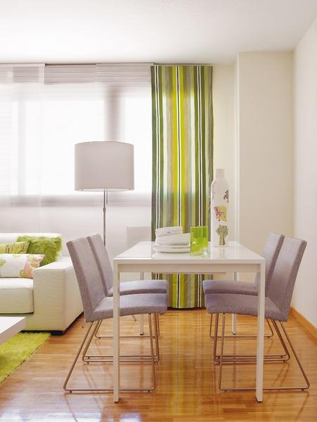 En verde - Con un aire refrescante - Salon comedor - Decoracion interiores - Interiores, Ambientes, Baños, Cocinas, Dormitorios y habitaciones - CASADIEZ.ES