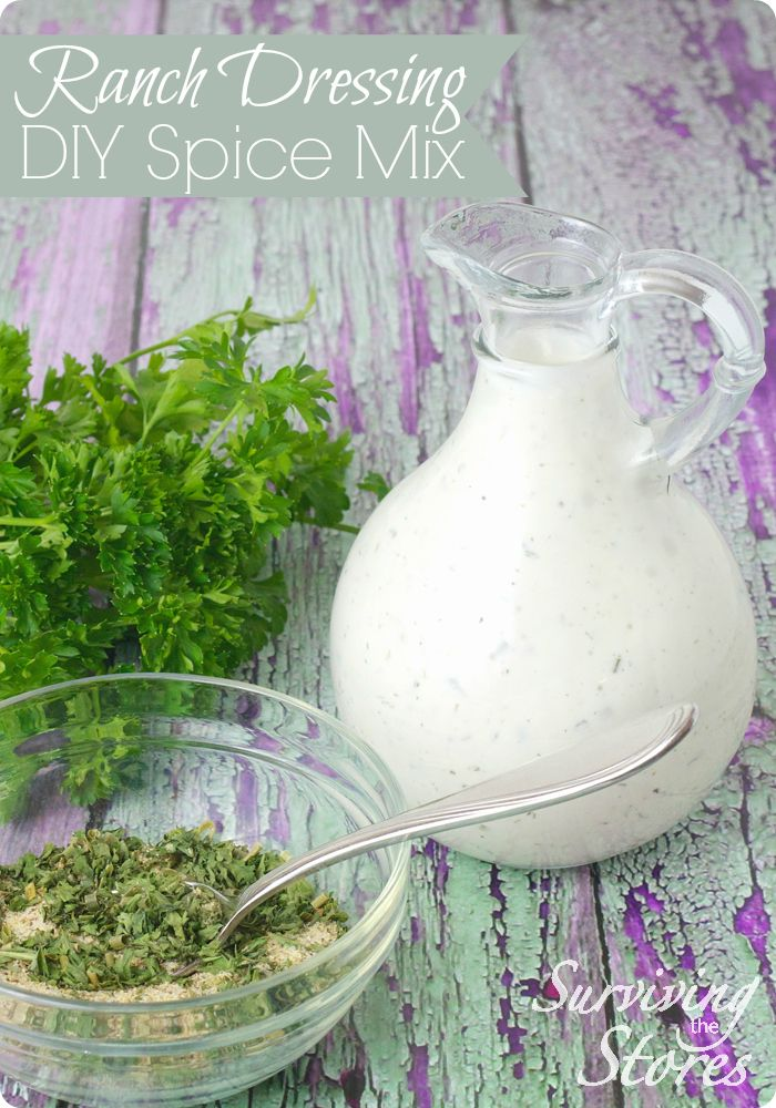 Yummy DIY Ranch Dressing Spice Mix! So easy to make and soooo good!