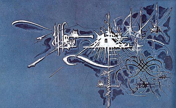 Georges Mathieu - Mercure - 1969 - 300x500cm