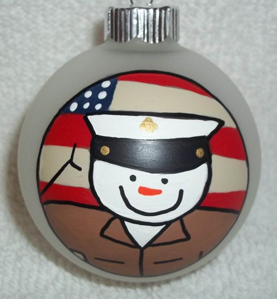 United States Christmas Ornaments Part - 41: United States Marine Corp Christmas Ornament USMC By Baitser