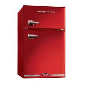 Nostalgia Electrics Retro Series 3.1 Cu. Ft. Compact Refrigerator with freezer