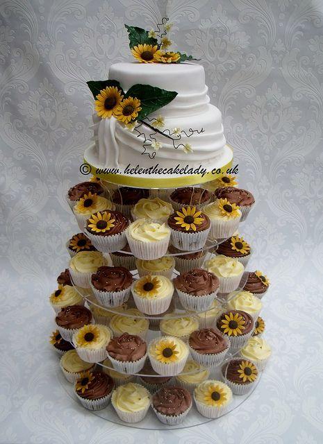 sunflower wedding theme | sunflower wedding cupcake tower wm | Flickr - Photo Sharing!
