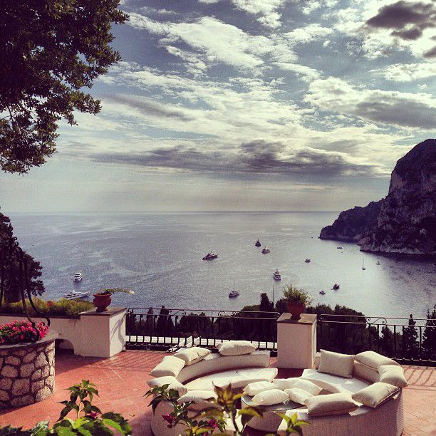 Find luxurious resorts, boutiques, flower-lined paths, and cliff-top restaurants in #Capri.    Photo courtesy of @ amn_a via Instagram