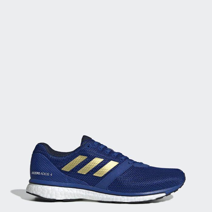 Adizero Adios 4 Shoes Blue Mens   Shoes, Blue shoes, Blue adidas