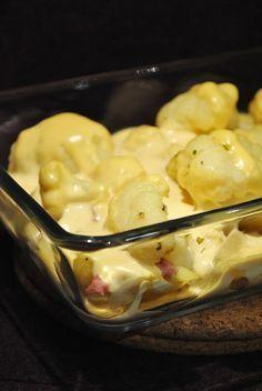 Küchenzaubereien: Schneller Blumenkohl-Kartoffel-Auflauf... Hab ihn ohne Schinken gemacht dafür kleine Hackbällchen rein. SUPERLECKER! HB