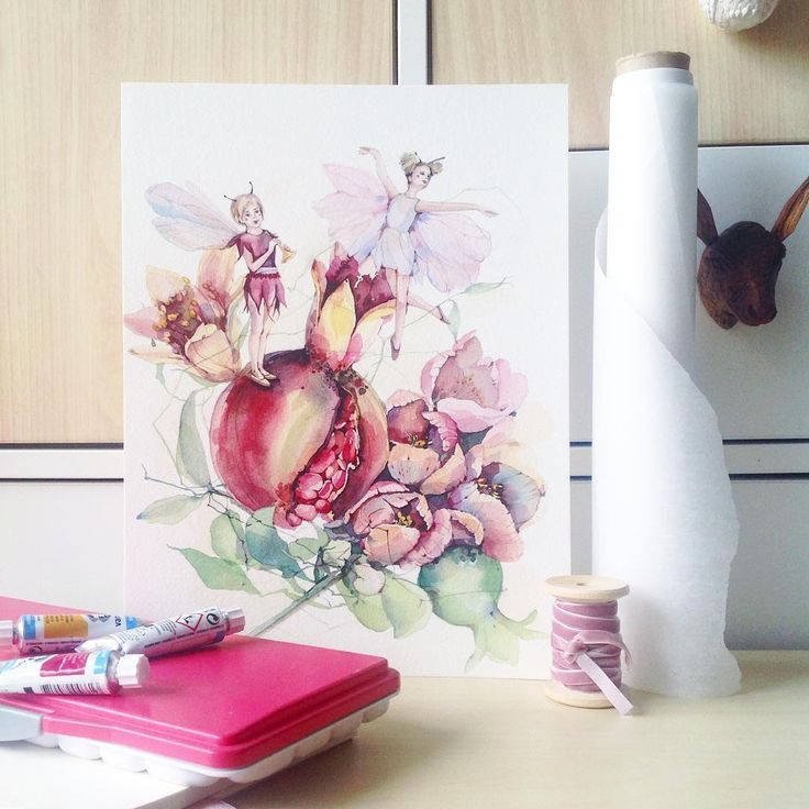 Мне предстоит нескончаемый поток фей☺️💫✨ #misha_illustration#illustration#watercolor#watercolour#waterblog#art#artist#art_we_inspire#artwork#aquarelle#drawing#painting#гранат#иллюстрация#акварель#granate#pomegranate#artgallery#arts_help#topcreator#watercolorpainting#flowers#fairy#botanical#botanicalart