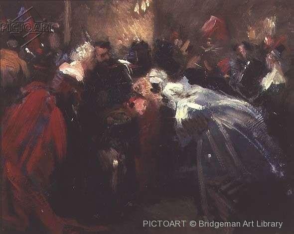 Jean Baptiste Carpeaux - Maškarní ples v Tuileri (až impresionistický)