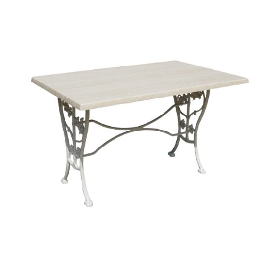 Table rectangulaire Lierre Caractéristiques produit : Hauteur : 0.69 m. Longueur : 1.2 m. Largeur : 0.8 m. Poids : 17 Kg