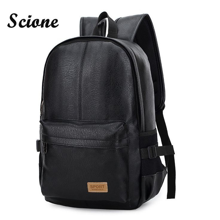 Fashion Vintage Men's Business Backpack Leather School Bag for Teenagers Laptop Backpack Travel Bagpack mochila escolar JXY746