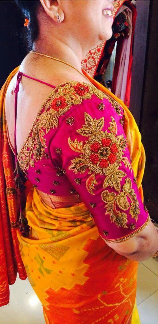 Maggam work blouse... To order pls WhatsApp on 9618821933