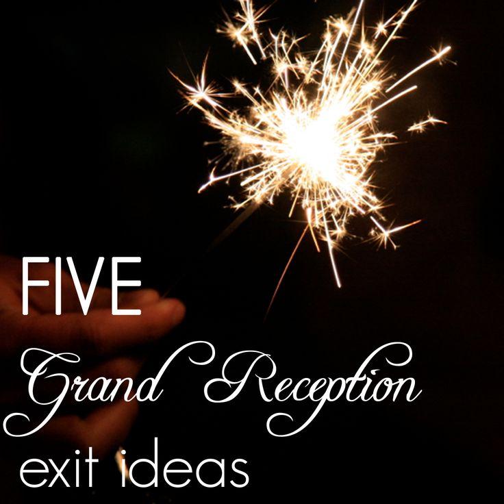8 Best Reception Exit Ideas Images On Pinterest