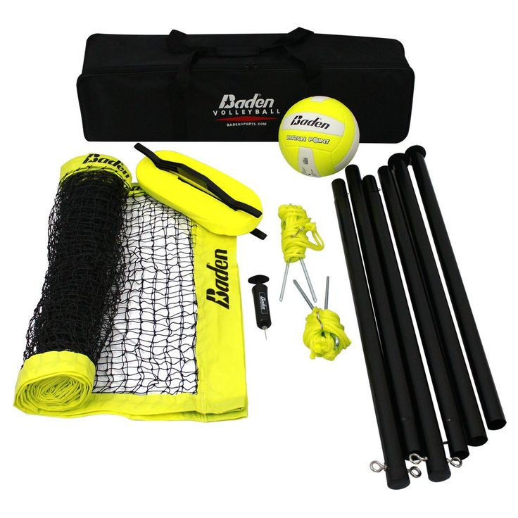 - Model #: G204 - Includes: - (1) Premium high quality water resistant volleyball - (1) Regulation sized polyethylene lifetime quality net - (1) Visible and easy to use webbing boundary line - (2) Pow