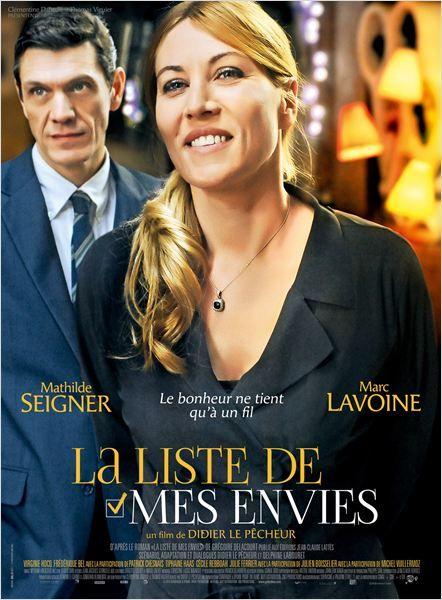 """<3<3<3 """"La Liste de mes envies"""", une comédie de Didier Le Pêcheur avec Mathilde Seigner, Marc Lavoine, Virginie Hocq... (05/2014)"""