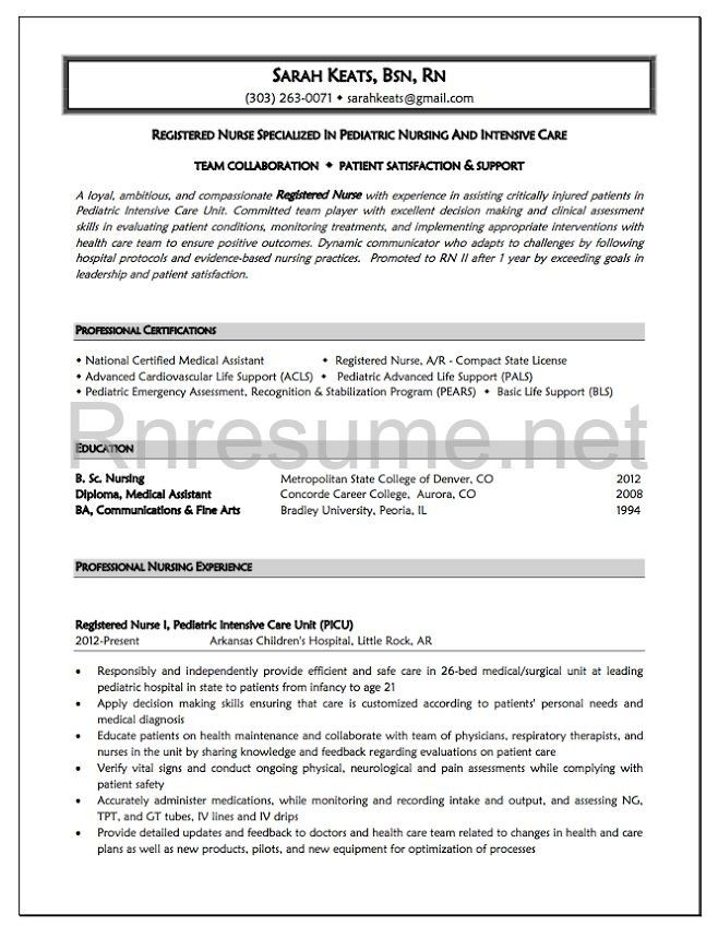 New Grad Nursing Resume Template Inspirational Immigration ...