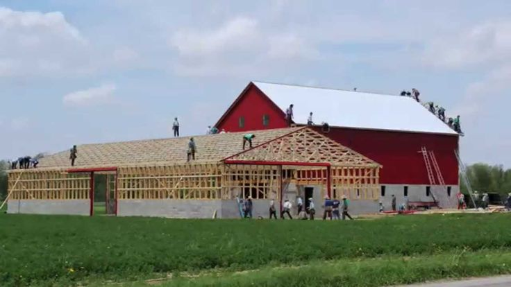 304 best barns images on pinterest building homes pole for Amish built pole barn houses