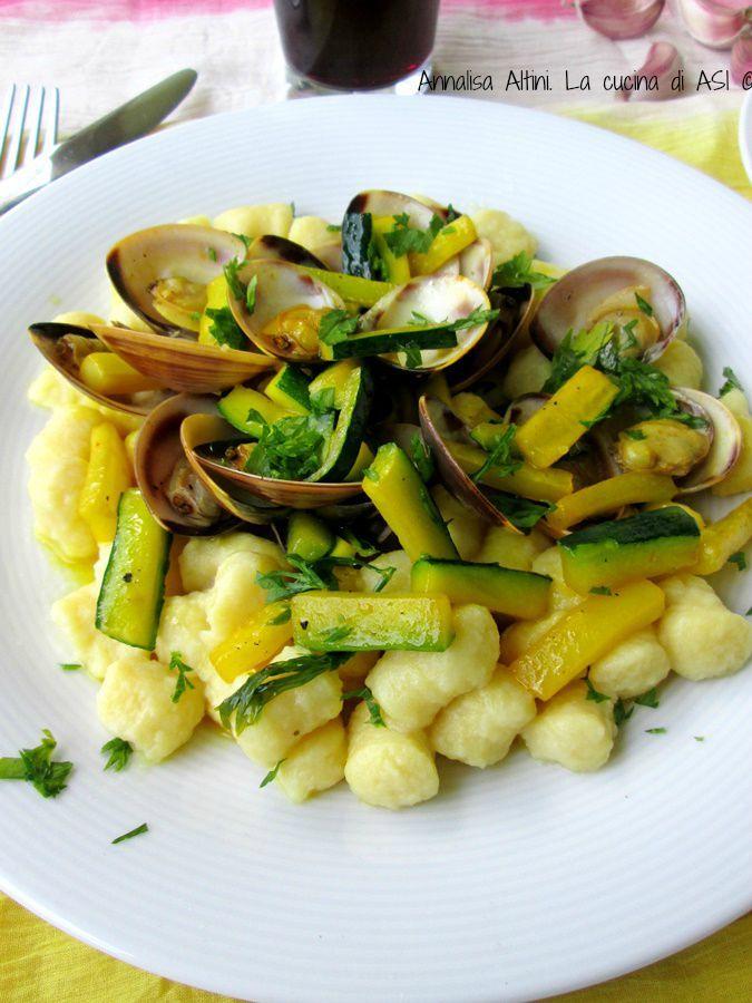 GNOCCHI vongole zucchine del blog La cucina di ASI ©