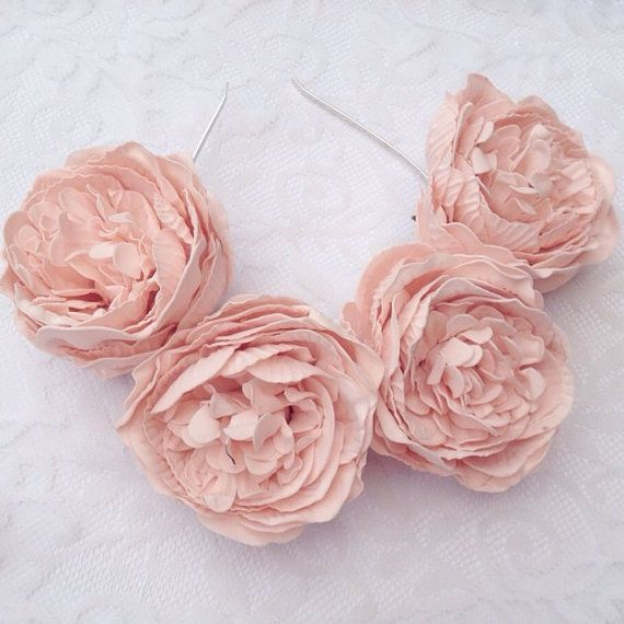 etsy-intage Beige large peony floral crown flower headband