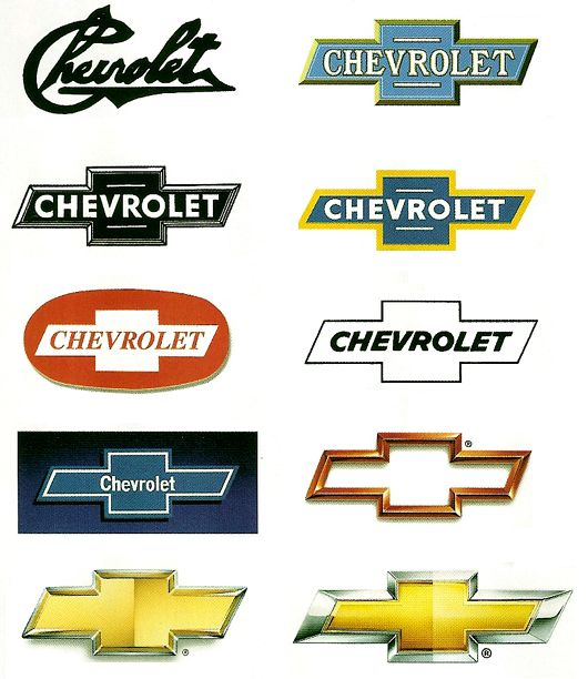 cheverolet logo history evolution- can our logo evolve into a single image in the future?                                                                                                                                                                                 Más