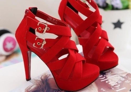 cuuuute: Fashion, Style, Red Shoes, Red High, Highheels, Red Heels, Closet, High Heels, Shoes Shoes