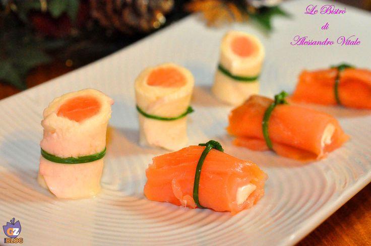Sushi di salmone e mozzarella
