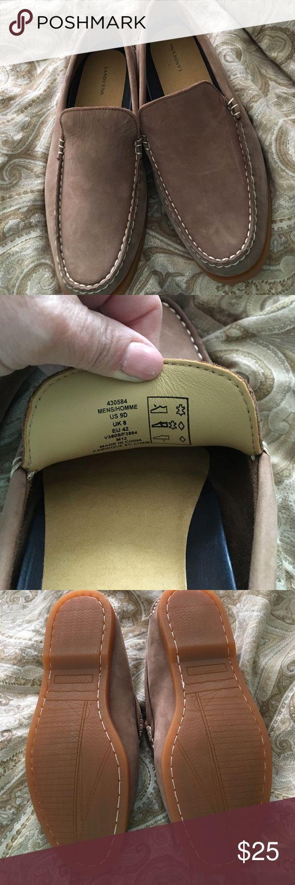 LandsEnd Tan Loafers Men's Size 9D Minimal wear on these Lans End Loafers...men's size 9D....perfect for the spring... Lands' End Shoes Loafers & Slip-Ons