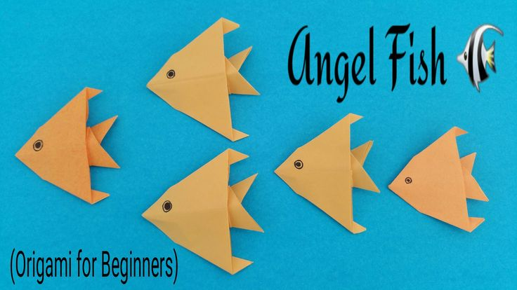 "How to make an easy paper ""Angel Fish"" - Origami for Beginners tutorial."