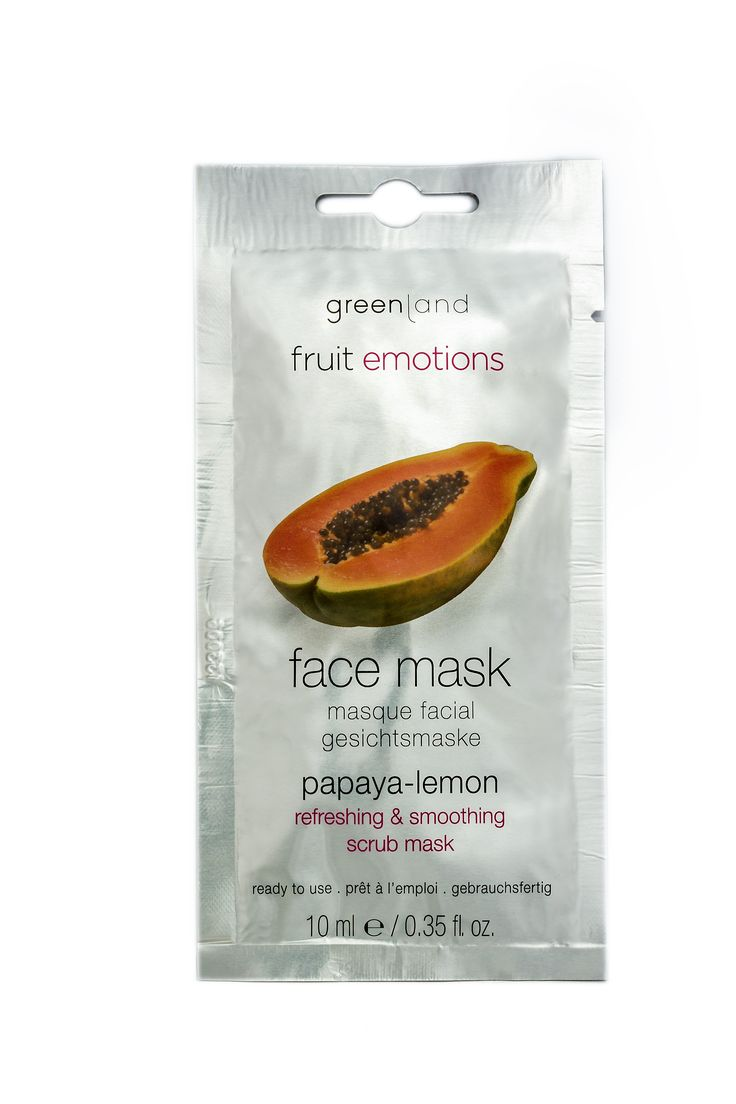 Papaya ‐ lemon with bamboo scrub. Scrub mask. This energizing mask gives your skin back its natural shine. The bamboo scrub particles remove dead skin cells, making the skin look fresh and radiant. Skin types: for all skin types/ tired skin