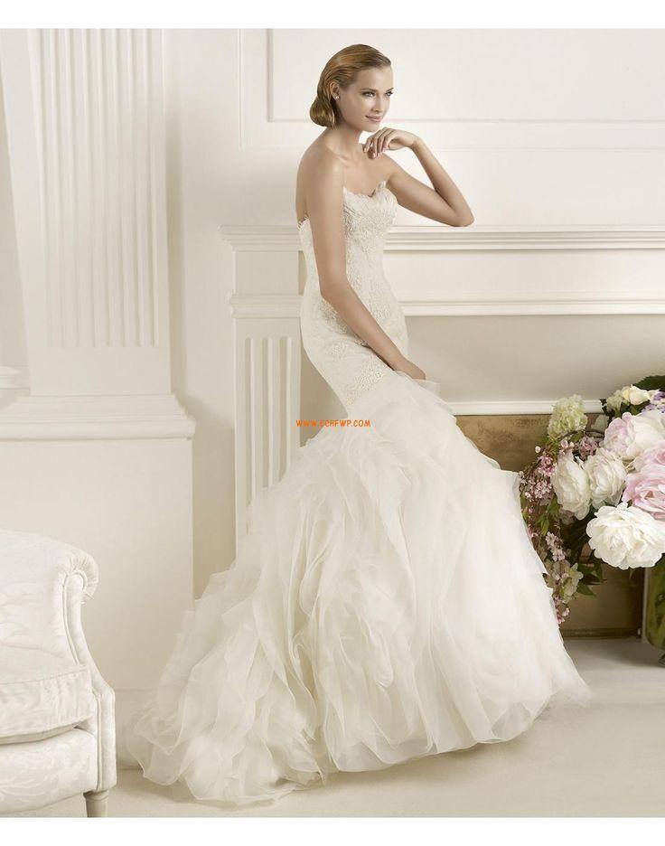 Délka dvorní Nášivky Empírové Svatební šaty 2014