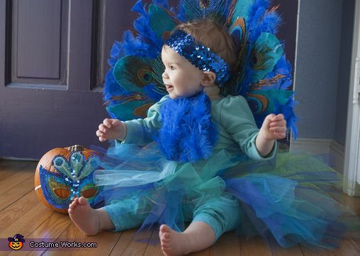 Baby Peacock - Halloween Costume Contest via @costume_works- she would look so cute as a Peacock! Maybe gonna try this for her Halloween costume this year since she will be over a yr old