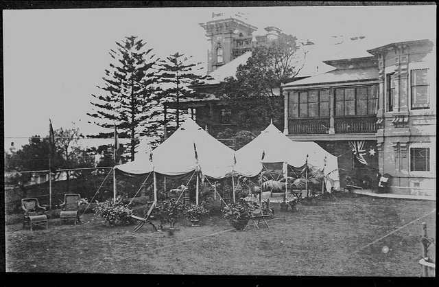 Jesmond House lawn, 10 Barker Street Newcastle, NSW, [1904] by Cultural Collections, University of Newcastle, via Flickr
