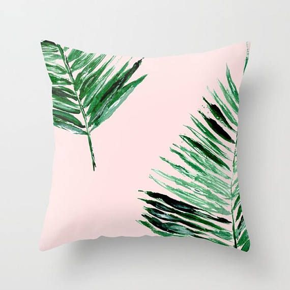 Amazing Pink Palm Leaf Throw Pillow Palm Leaf Pillow Pink Leaf Ocoug Best Dining Table And Chair Ideas Images Ocougorg