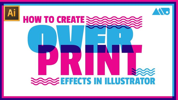 How to Create Screenprint Style Overprints in Adobe Illustrator Tutorial