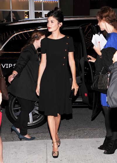 Audrey Tautou... great dress simple and flattering