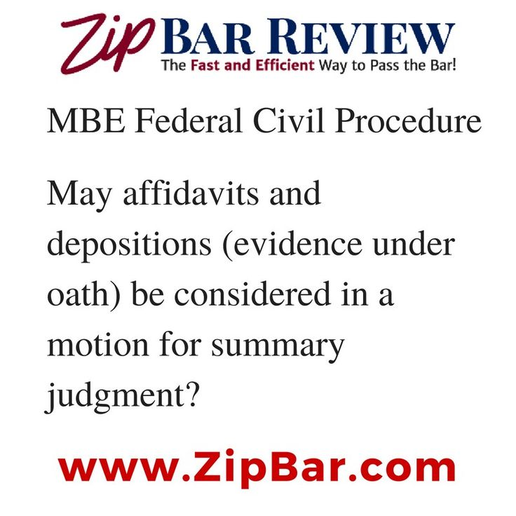 Do you know this MBE nuance that can trick students in the answer choices about a motion for summary judgment?  Quiz yourself!  #barexam #barprep #barreview #zipbar #barbri #kaplanbarreview #barmax #dailydrill #3L #lawschool #ownthebar #oneanddone #barpreplife