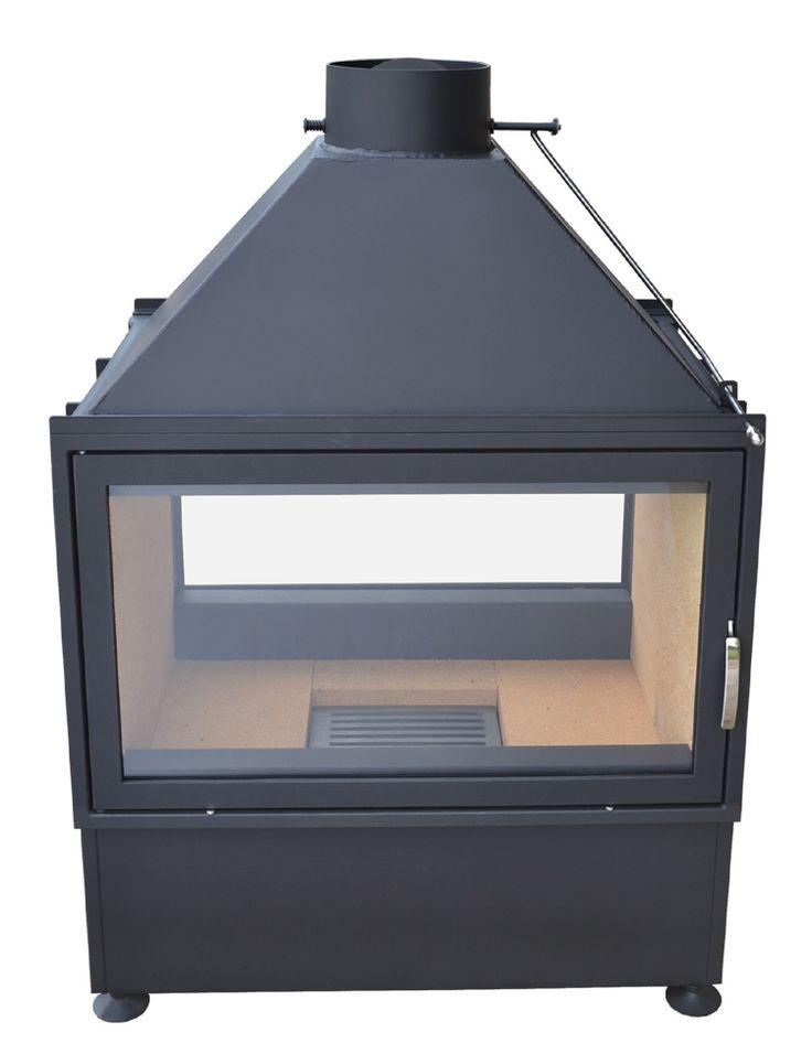 Dwustronny kominek marki Kwline z szybami uchylnymi - model E 780 D