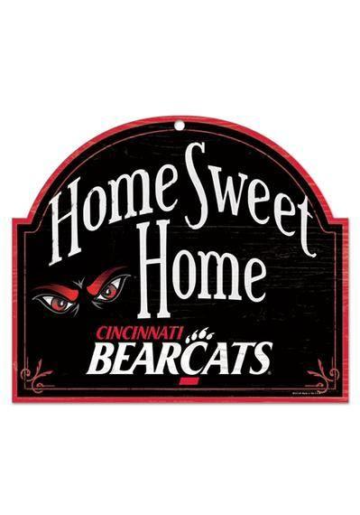 cincinnati bearcats home sweet home sign httpwwwrallyhousecom - Home Decor Cincinnati