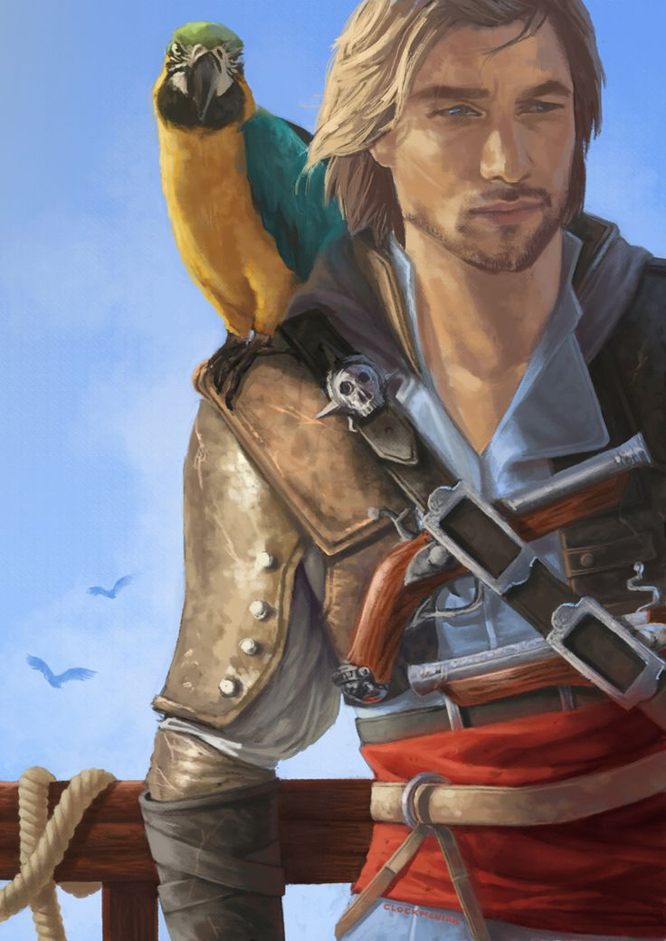 Male Pirate Art | dat badass pirate by clockmaniak fan art digital art painting ...