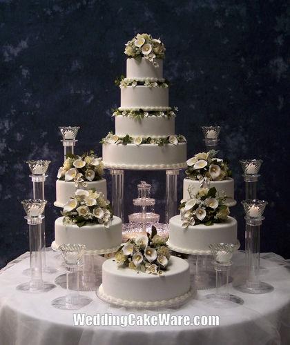 9 Tier Grand Cascade Wedding Cake Stand Stands Set   eBay  $184.95