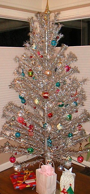 vintage aluminum tree - and we had a color wheel that shined colored lights on it, too!