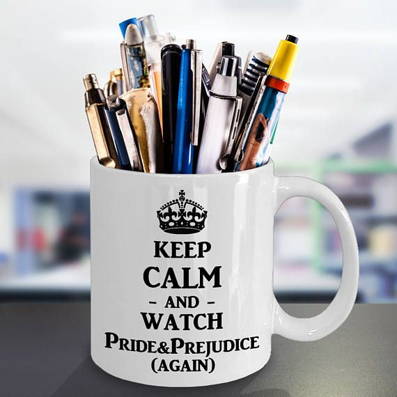 Jane Austen Mug Watch Pride and Prejudice  gift for a Jane