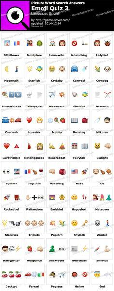 Picture Word Search Emoji Quiz 3 Answers