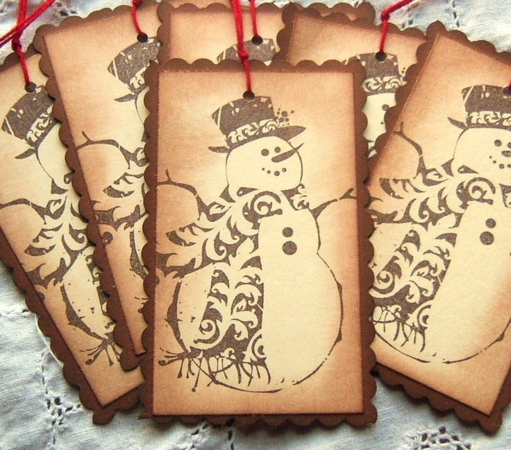 Vintage Snowman Tags...