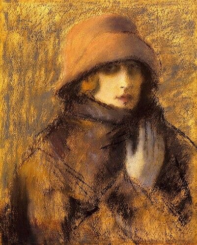 Woman in Red Hat 1925 Rippl-Rónai, József